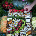sushi grazing table