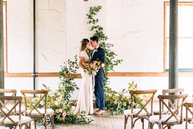 sunrise meets sunset wedding inspiration at Headlands