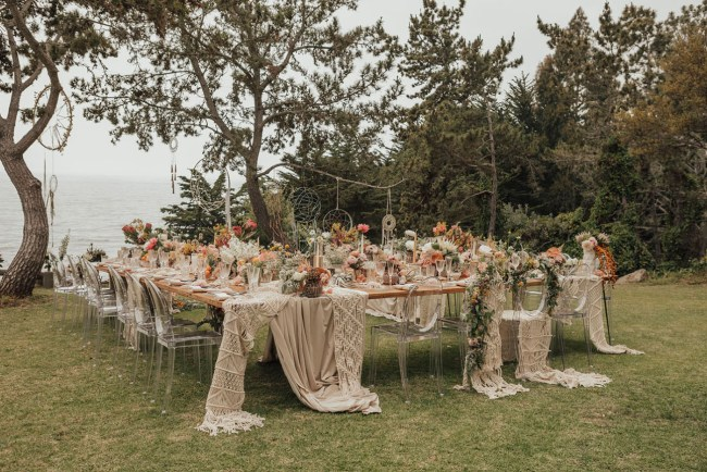 Boho Big Sur Intimate Wedding