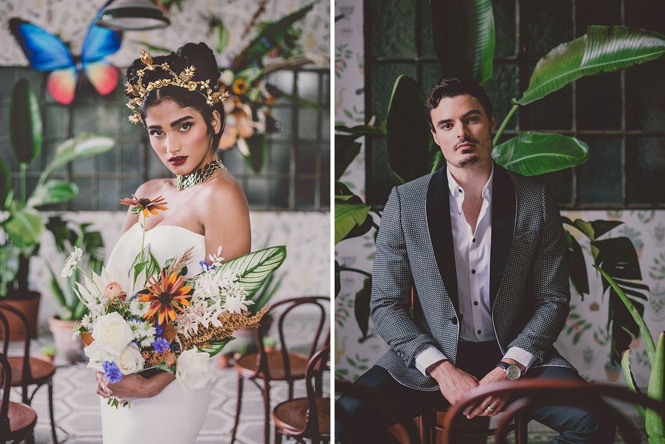 Old World Surrealism Frida Inspired Wedding