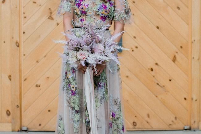 floral wedding dress