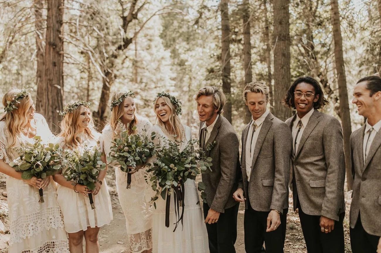 Woodsy Boho Palomar Mountain Wedding