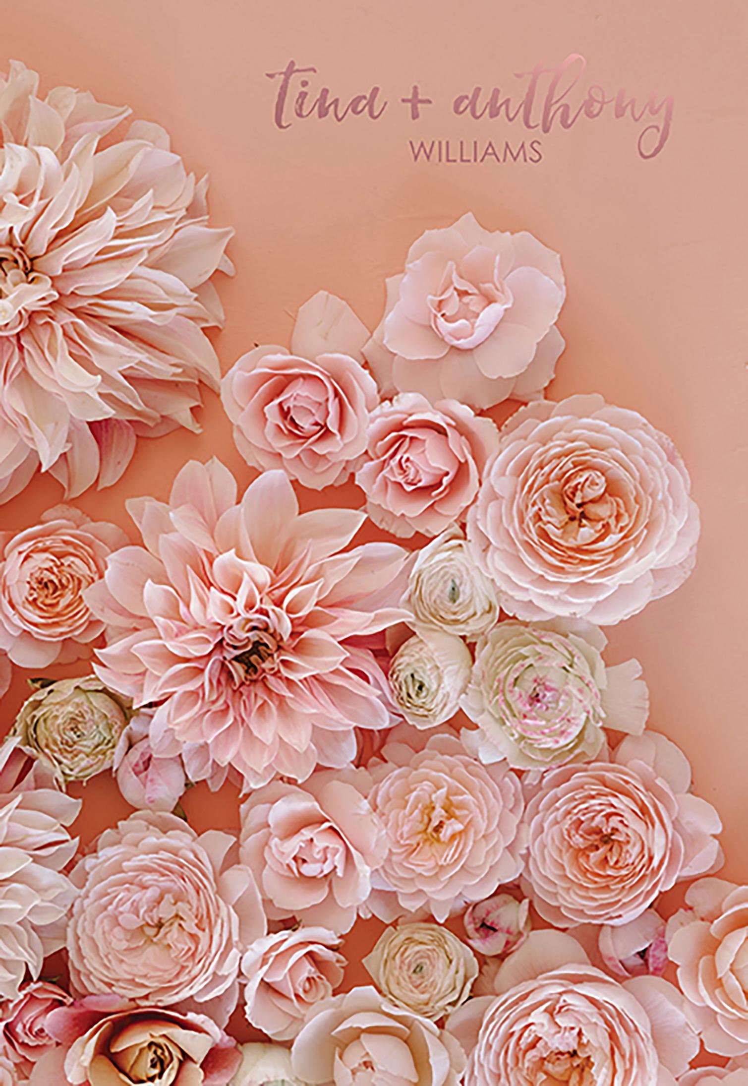 Floral Rose Gold Wedding Planner Erin Condren
