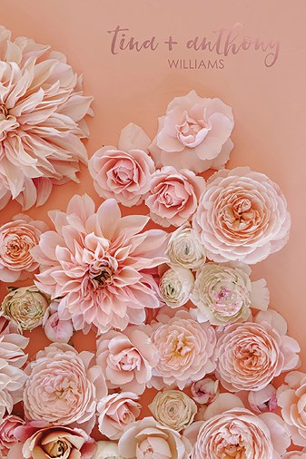 Floral Rose Gold Wedding Planner Erin Condren