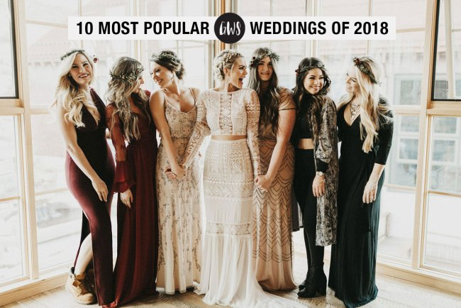 10 Most Popular Weddings on Green Wedding Shoes in 2018