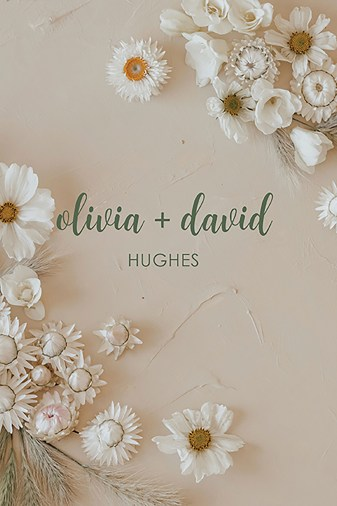 Neutral Romantic Floral Bohemian Wedding Planner Erin Condren