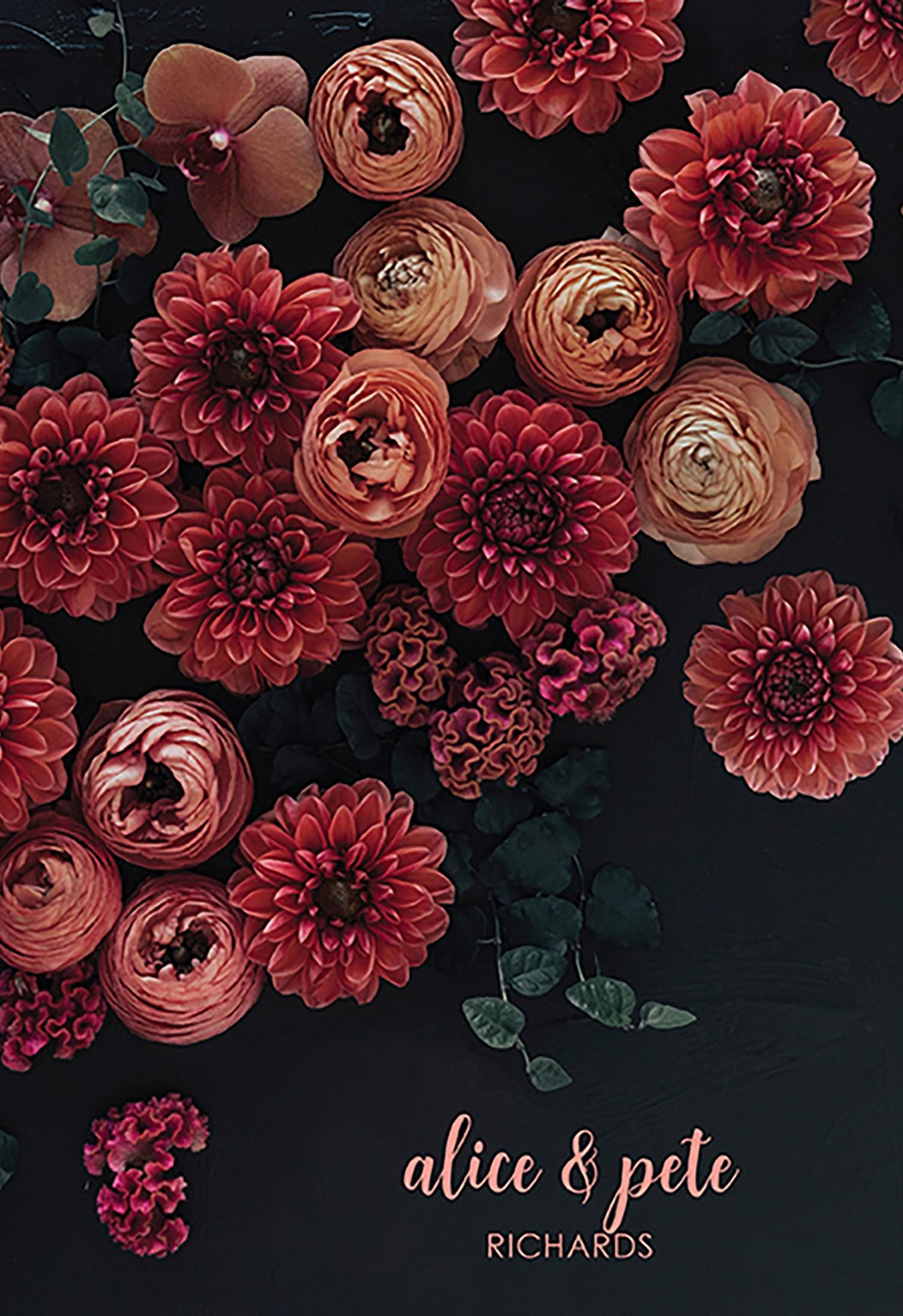 Dark Floral Glam Wedding Planner Erin Condren