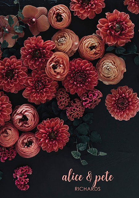 Dark Floral Glam Wedding Planner Erin Condren