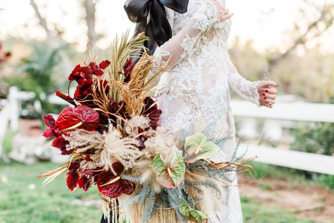 boho wreath bouquet