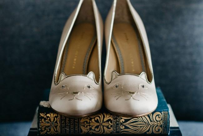 cat bridal heels