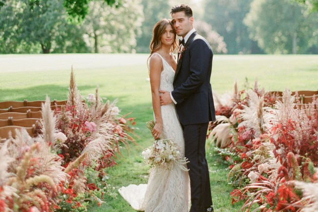 a3607acecd33 All the Details of Rocky Barnes + Matthew Cooper's Seriously Stylish +  Dreamy Bohemian Wedding · Modern Winter Austin Wedding. Real Weddings