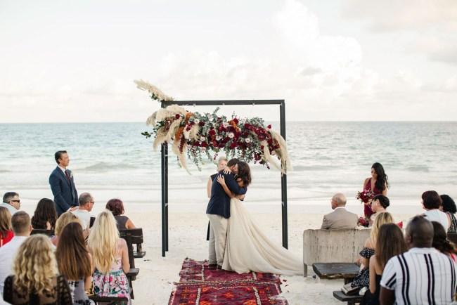 Winter Beach Tulum Wedding