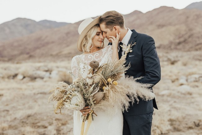 Intimate Southwestern Desert Wedding