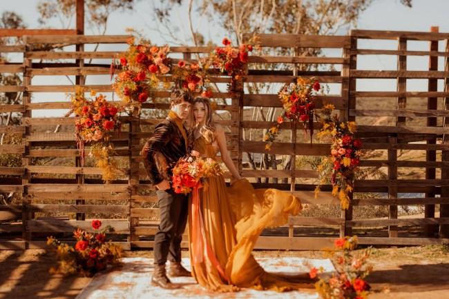 Saffron + Scarlet Valentines Wedding Inspiration