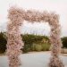 Dried Floral Pink Baby's Breath Backdrop Arch Mandy Moore Wedding
