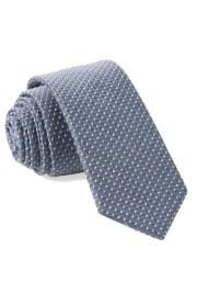 Green Wedding Shoes x The Tie Bar Groom Style Tie Chambray Polka Dot Slate Blue