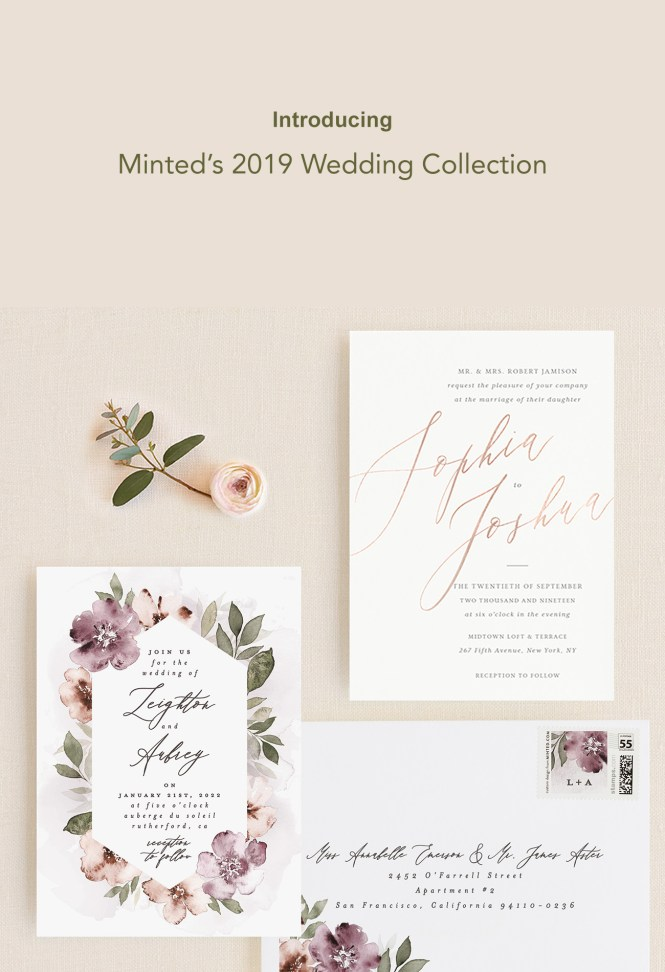 Minted S 2019 Invitation Collection Is Here Along With