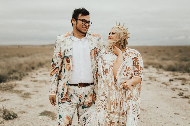 Festive Marfa Texas Wedding