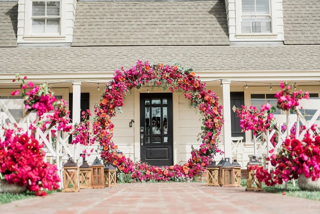 Bougainvillea Wedding Chandelier Hoop