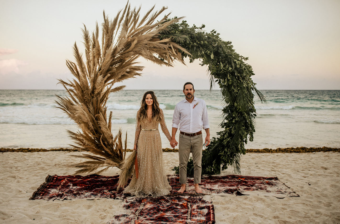 Beach Wedding in Tulum