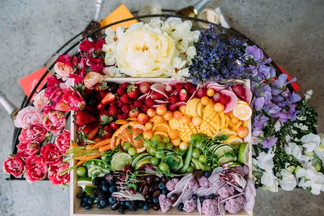 How to Make a Rainbow Platter