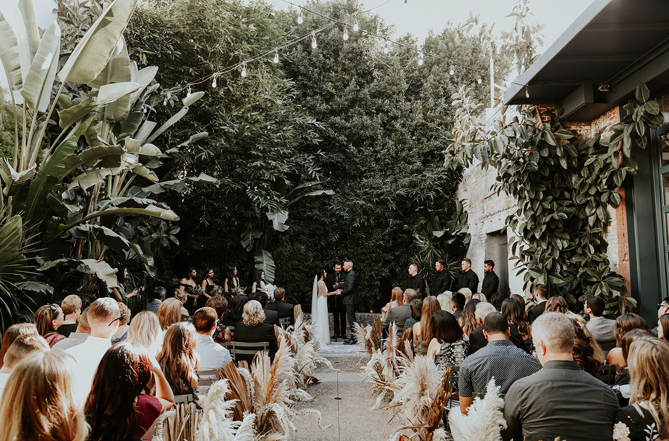 Modern Boho Chic LA Wedding