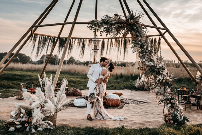boho glam wedding inspo