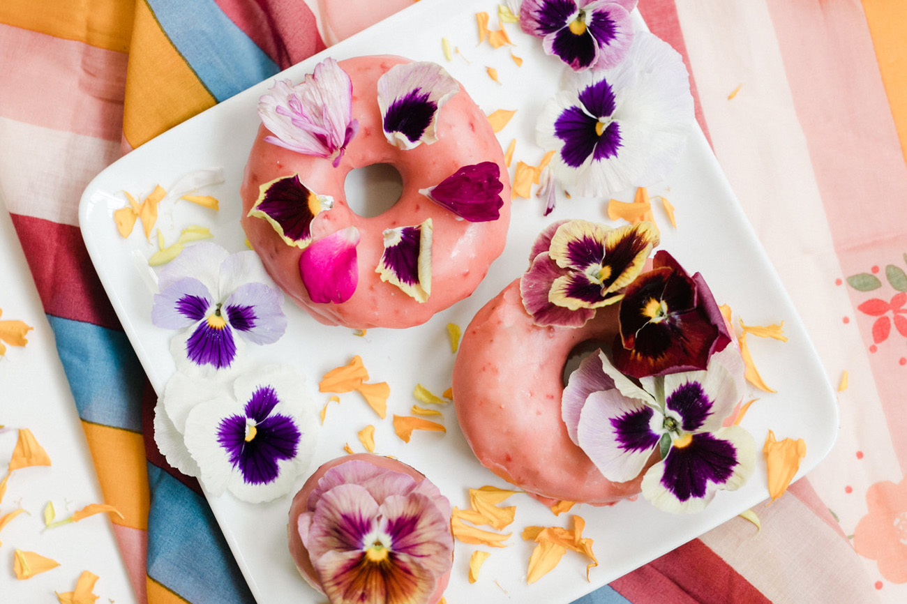 floral donuts from The Wild Posey