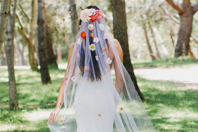 DIY Silk Flower Veil