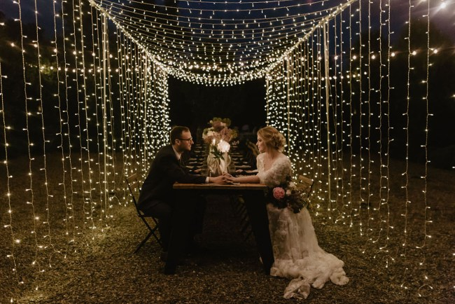 Fairy Light Barn Wedding Inspiration