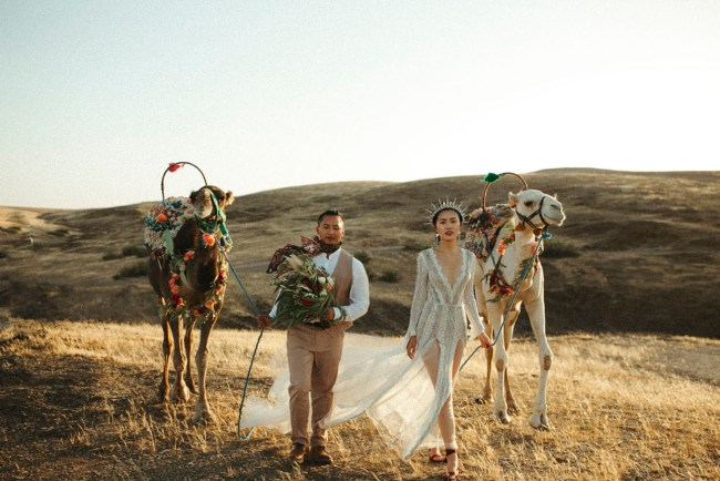 Boho Camp Wedding in Morocco