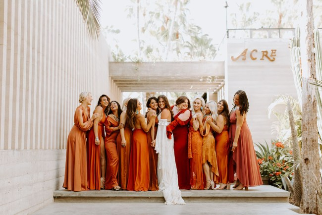 rust bridesmaid dresses