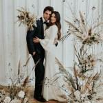 Muted Modern Wedding Inspiration With Dried Flower Arrangements Green Wedding Shoes