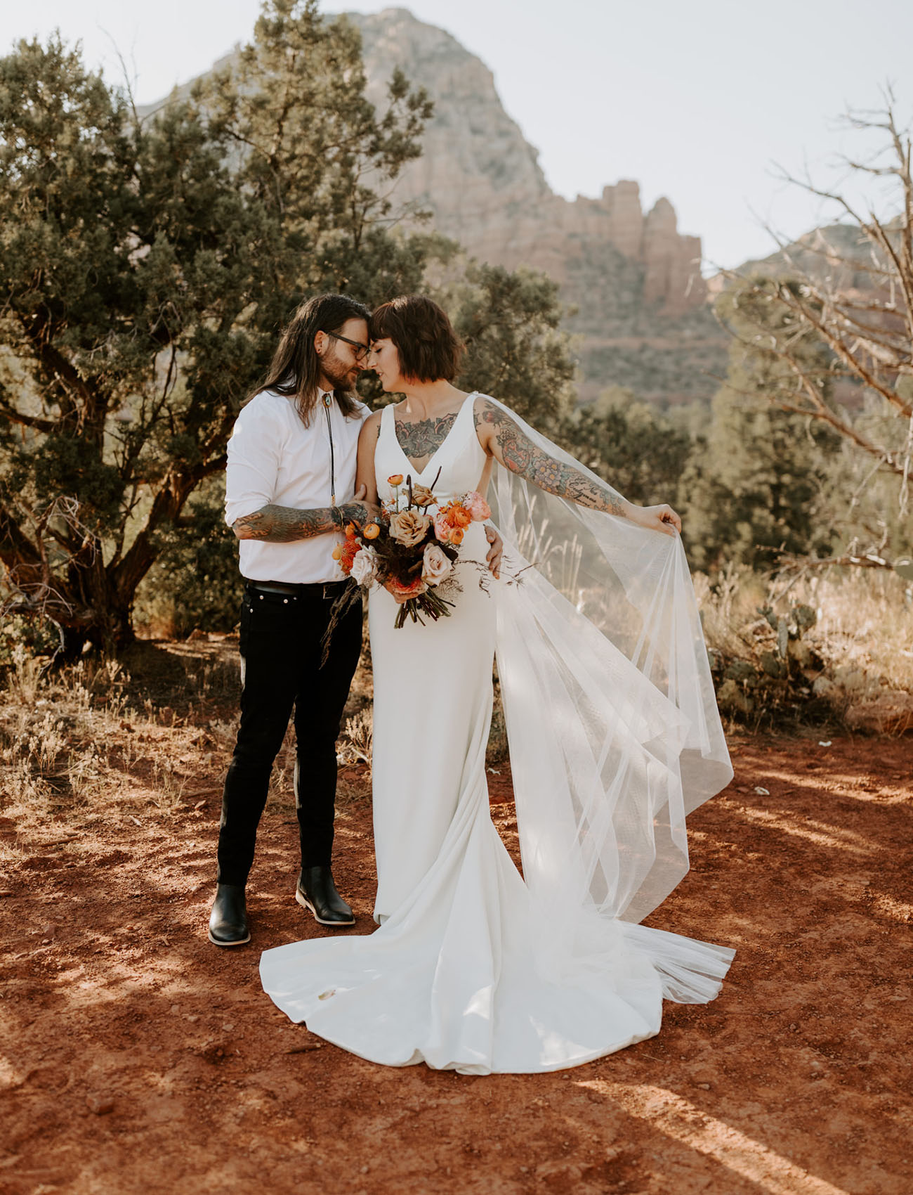 Celebrating 10 Years with a DesertInspired Vow Renewal in Magical Sedona  Green Wedding Shoes