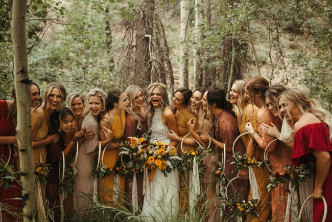 Fall inspired bridesmaids
