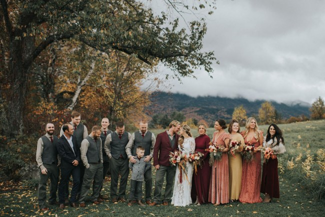 Rustic New Hampshire Mountain Wedding