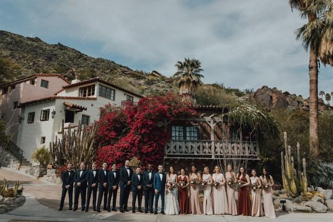 Old Hollywood Desert Wedding