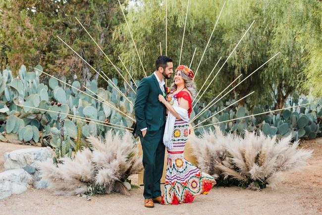 Wedding Ceremony with Pampas Grass