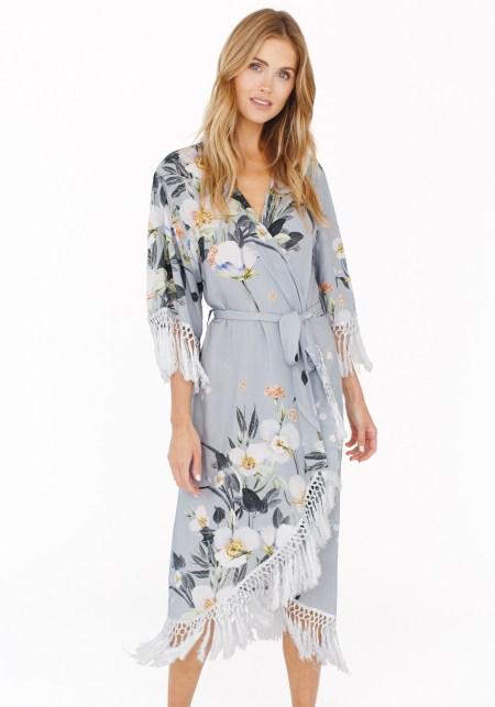 GWSxPPS Hibiscus Midi Robe in Lovestoned