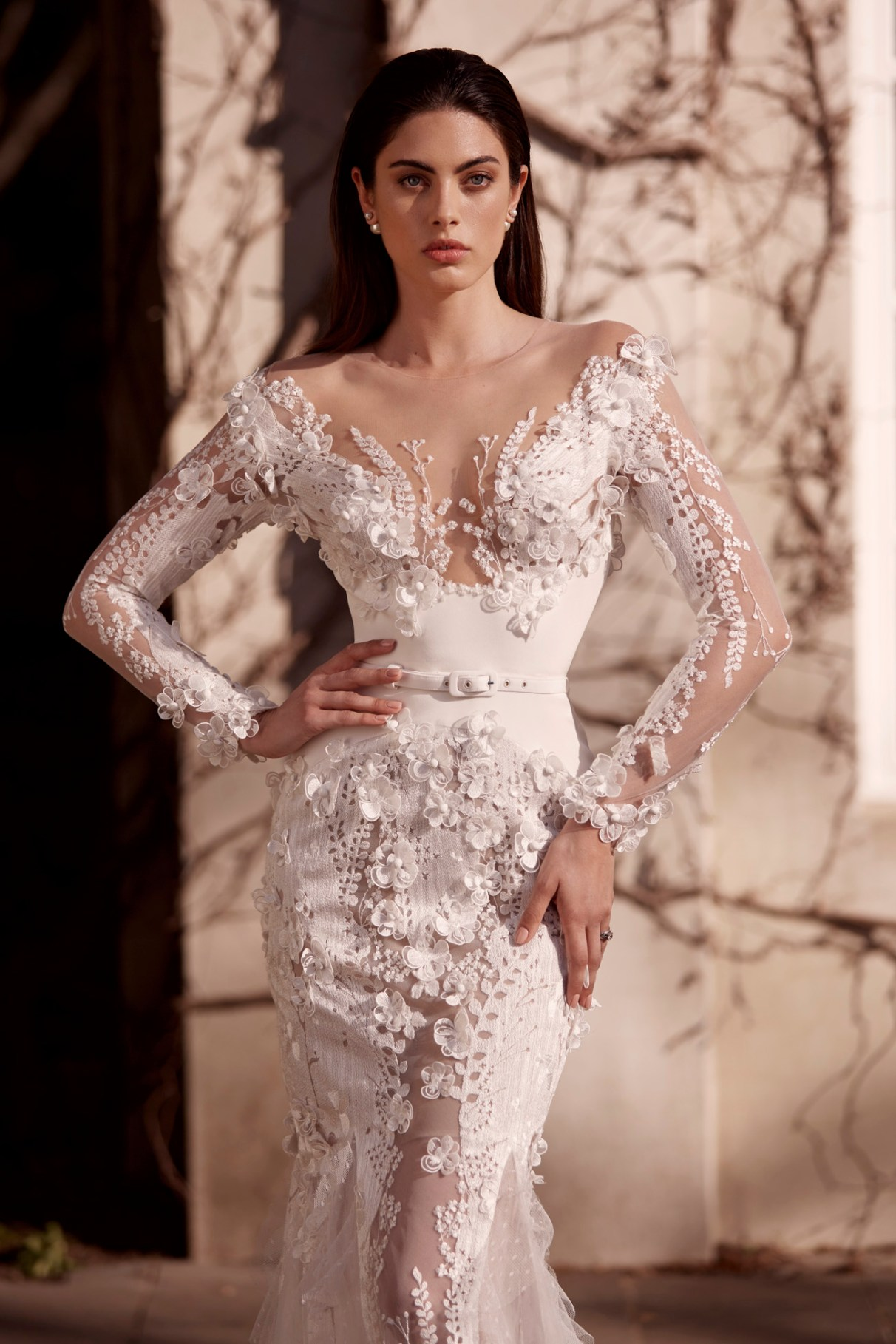 Leah Milton Lace Wedding dres