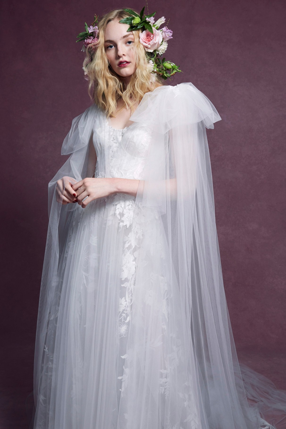 Marchesa Cape Gown