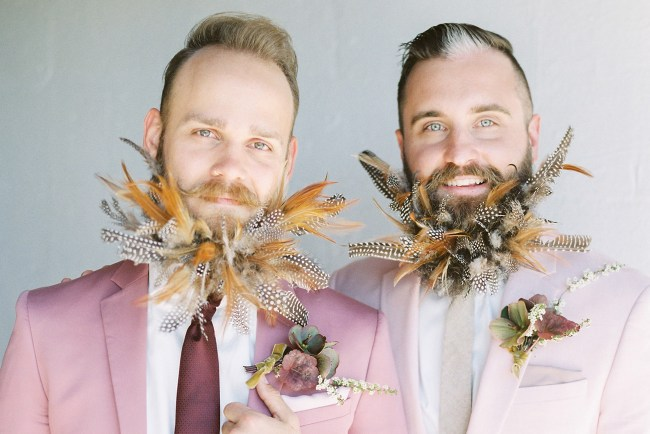feather beard grooms