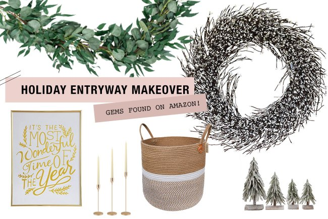 Decorate your entryway for the holidays with these absolute gems we found on Amazon!