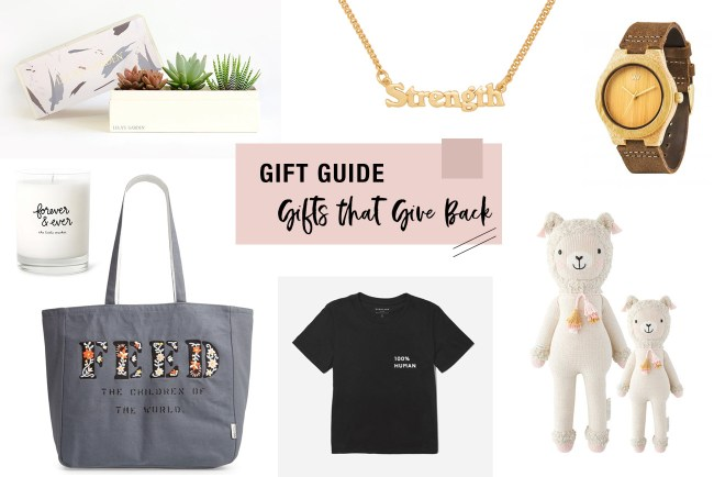 2019 Gift Guide for Gifts that Give Back