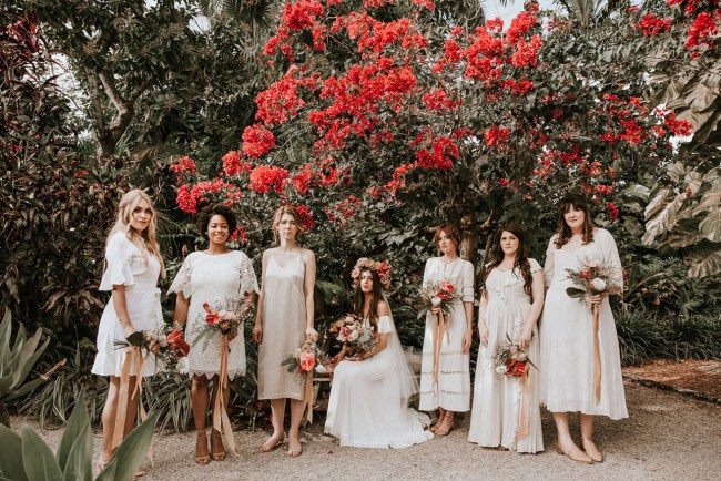 Bohemian Inspired Tropical Garden Wedding