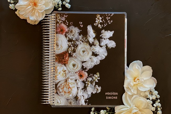 Erin Condren x Green Wedding Shoes Floral Notebooks and Planners