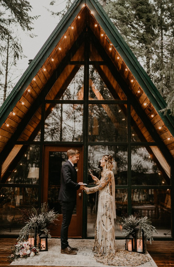 aframe airbnb elopement