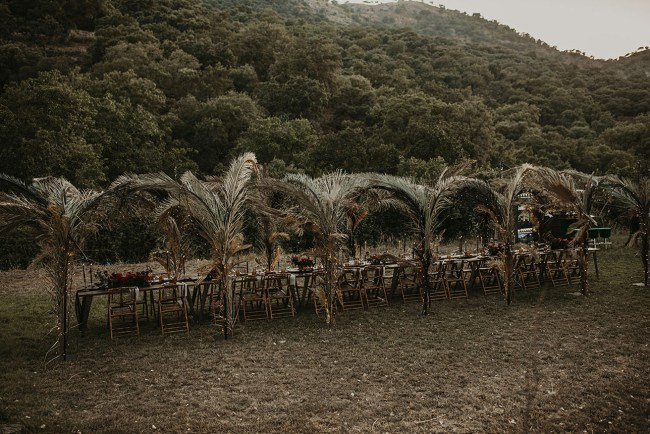 Tunnel of Palms Wedding in Spain
