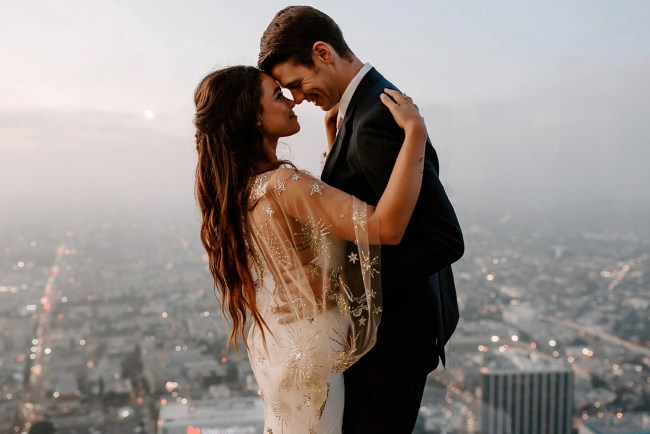 rooftop LA wedding