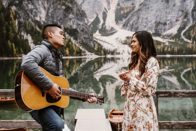 Dolomites Italy Surprise Proposal